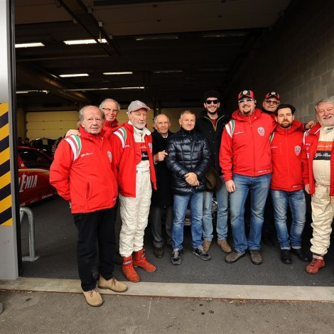 "Scuderia del Portello's Team, with Gian Luigi Picchi, guest of Davide Cironi for the ""Drive Experience Track Day"" at the Modena race track"