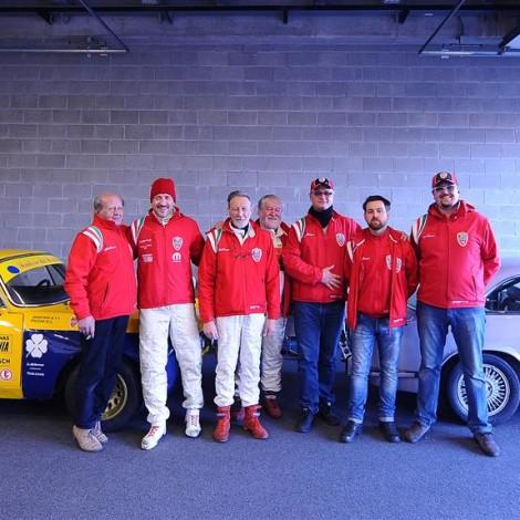 """Il Team della Scuderia del Portello, con Gian Luigi Picchi, ospite di Davide Cironi al """"Drive Experience Track Day"""" presso l'autodromo di Modena"""