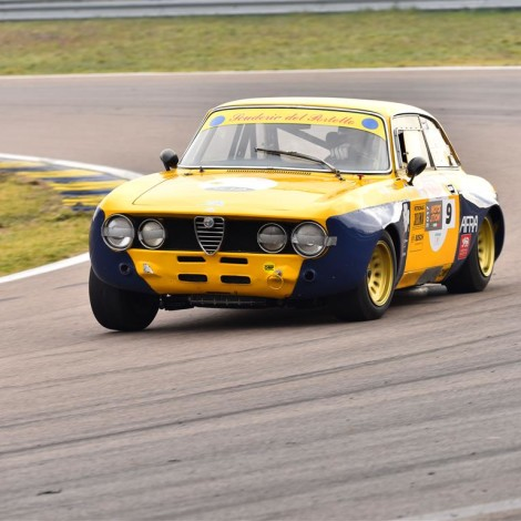 "Modena race track, ""Drive Experience Track Day""by Davide Cironi. Alessandro Morteo on an Alfa Romeo 1750 GTAm."
