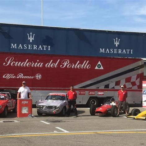 La Scuderia del Portello al 108° Anniversario Alfa Romeo a Varano.