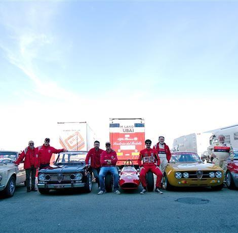 Drive Experience Davide Cironi Track Day, Autodromo di Modena, 3 marzo 2019: le vetture e il team del Portello con Davide Cironi. Foto di Dario Pellizzoni.