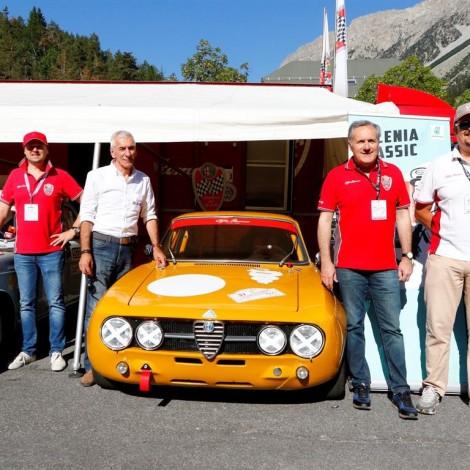 Cesana-Sestriere 2018: Alfredo Altavilla, Maurizio Zarnolli, Andrea e Mario Cajani. Foto di: www.fotograficasestriere.com