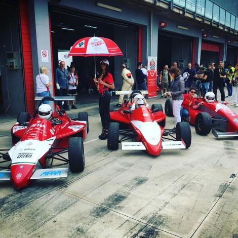 Imola, Historic Minardi Day 2018: le Formula Alfa Boxer del Portello.
