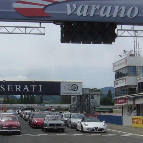 The parade of the Alfa Romeo Clubs.