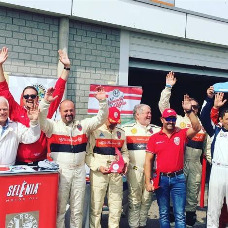 "Spettacolo Sportivo Alfa Romeo 2018, Zandvoort: the Award Ceremony of the ""Formula Alfa"" drivers."