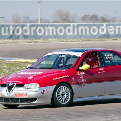 Drive Experience Davide Cironi Track Day, Autodromo di Modena, 3 marzo 2019: Marco Cajani su 156 Super Produzione. Foto di Dario Pellizzoni.