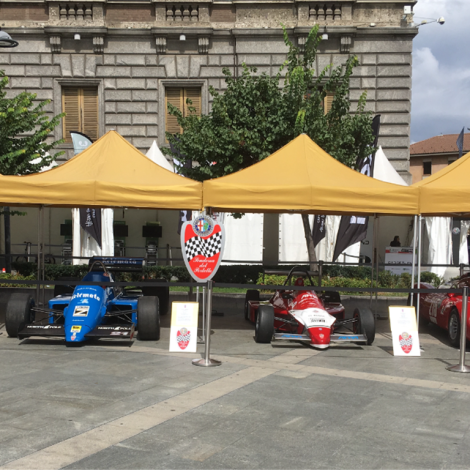 """Monza Fuori GP, """"Motorsport Passion"""", 1 September 2018: the cars of the Scuderia on view."""