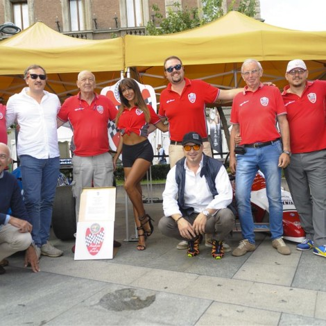 """Monza Fuori GP, """"Motorsport Passion"""", 1 September 2018: the members of the Scuderia's team who attended the event."""