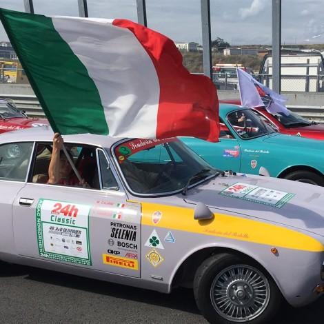 Spettacolo Sportivo Alfa Romeo 2018, Zandvoort: the Alfa Romeo cars of the Scuderia del Portello during the parade on the track. Photo by Dario Pellizzoni.