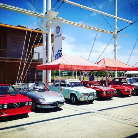 Arexpo Motorshow Experience 2017, schieramento delle vetture della Scuderia del Portello. Foto di Dario Pellizzoni.