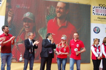 Targa Florio, Mario Cajani and Elsa Tessera, 3rd class place
