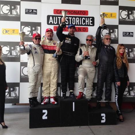 Campionato Italiano Autostoriche 2017, Franciacorta, Podio, Giovanni Serio e Renato Ambrosi, 2' Classe (Medium)