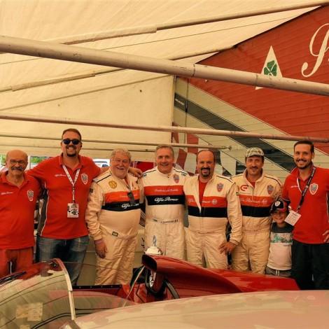 Cesana-Sestriere 2017, Alfredo Altavilla and the Scuderia del Portello Team. Photo by Dario Pellizzoni.