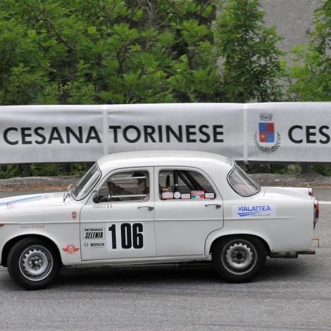 Cesana-Sestriere 2017, Emanuele Morteo su Alfa Giulietta TI. Foto di Dario Pellizzoni.