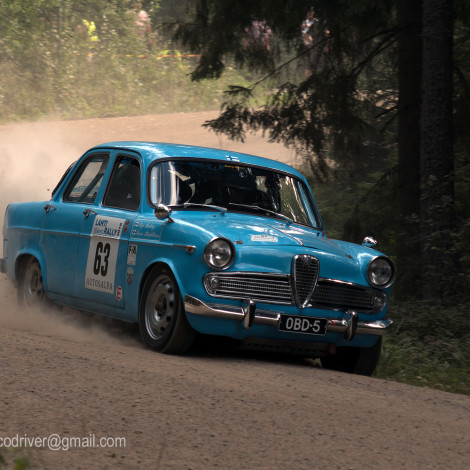 Lahti Historic Rally: Teuvo Hamalainen (FIN), primo di classe su Giulietta Berlina