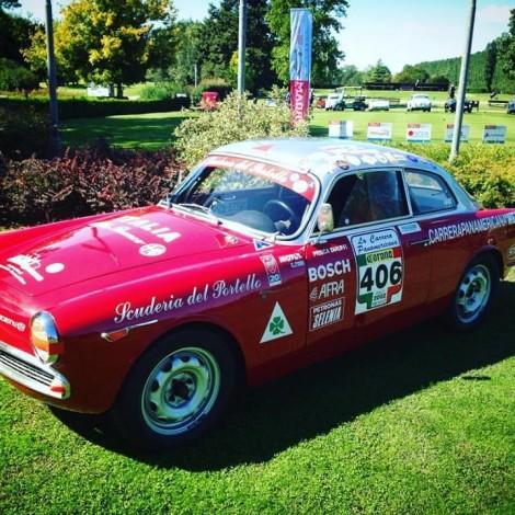"""Golf La Montecchia (Padua), Memorial Piero Taruffi """"la Volpe Argentata"""" - the Alfa Romeo Giulietta Sprint Veloce """"Carrera Panamericana"""" of the Scuderia del Portello"""