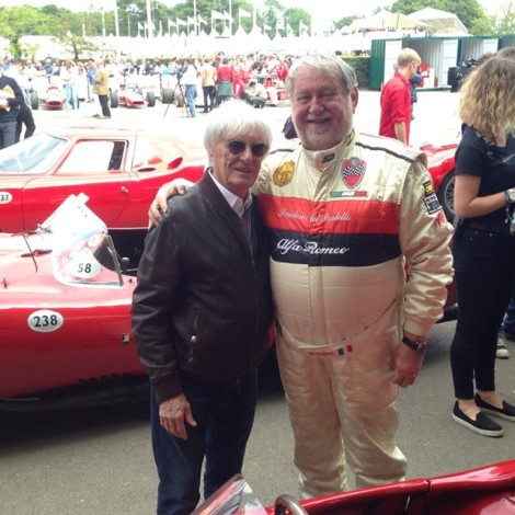 Goodwood Festival of Speed 2017, Marco Cajani e Bernie Ecclestone.