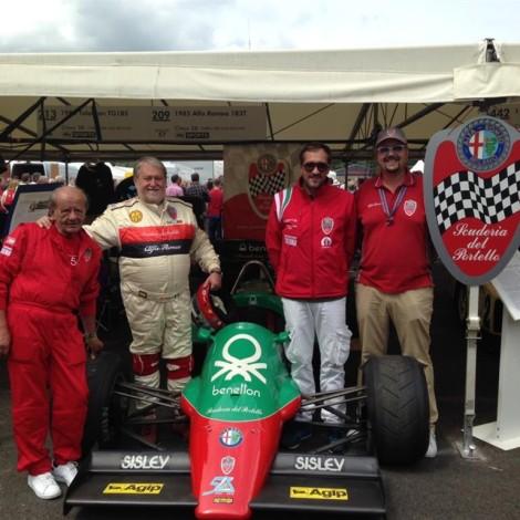 Goodwood Festival of Speed 2017, the team of the Scuderia del Portello.