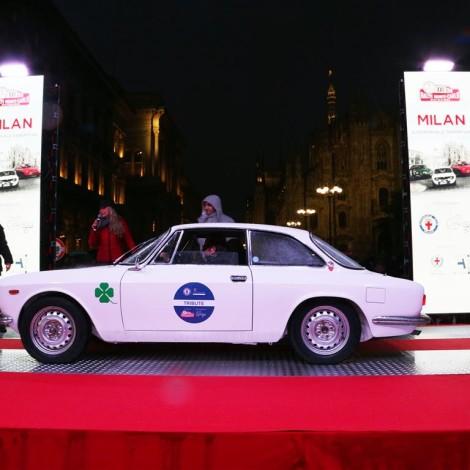 Tribute 115° ACI Milano 2019: Ivan Dominioni with an Alfa Romeo GT 1300. Photo by Massimo Campi