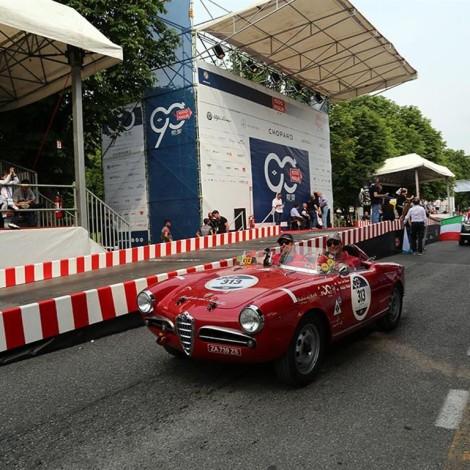 """Mille Miglia 2017, la partenza, Giulietta Spider tipo 750G """"Sebring"""""""