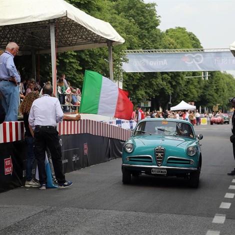 Mille Miglia, the start, Giulietta Sprint