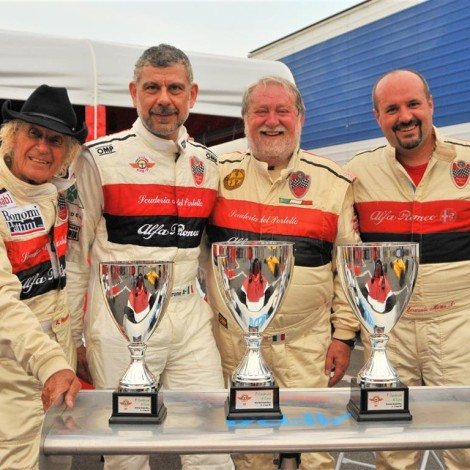 Monza 2017, Arturo Merzario, Emilio Petrone, Marco Cajani, Emanuele Morteo.