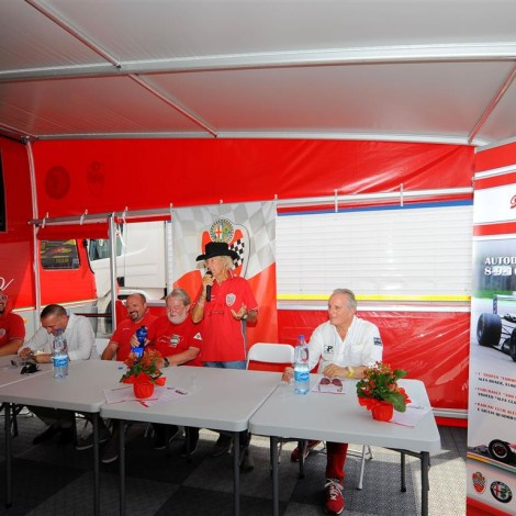 Monza 2017, press conference about the Vallelunga event (9/10 September) at the Scuderia del Portello's Hospitality stand.