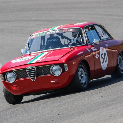 Mugello, Emilio Petrone, esordio con Giulia Sprint GT, Alfa Revival Cup