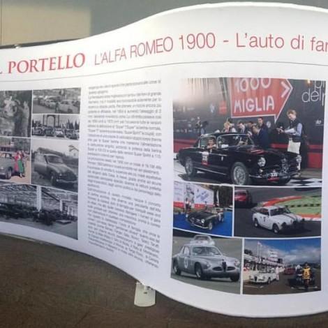 """Milano, PiazzaPortello. Mostra """"Le Alfa del Portello. La 1900, l'Auto di famiglia che vince le corse"""""""