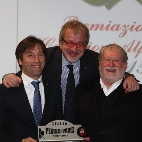 Premiazione Campioni Alfa Romeo, Sala - Maroni - Cajani