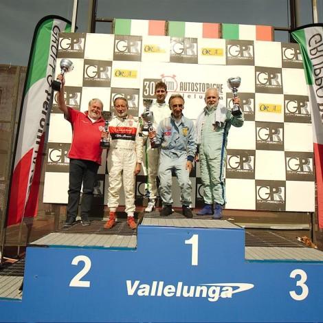 Vallelunga 2018: Marco Cajani e Gian Luigi Picchi secondi di classe alla 300 Km. Foto di Dario Pellizzoni.