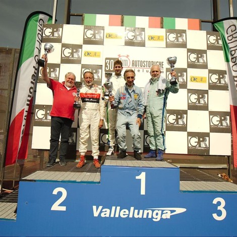 Vallelunga 2018: Marco Cajani and Gian Luigi Picchi, 2nd place in their class at the 300 Km. Photo by Dario Pellizzoni.