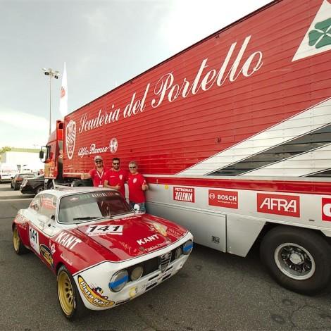 Vallelunga 2018: Roberto Arnaldi, che ha partecipato all'Alfa Revival Cup su Alfa Romeo GTAM Gruppo 5. Foto di Dario Pellizzoni.